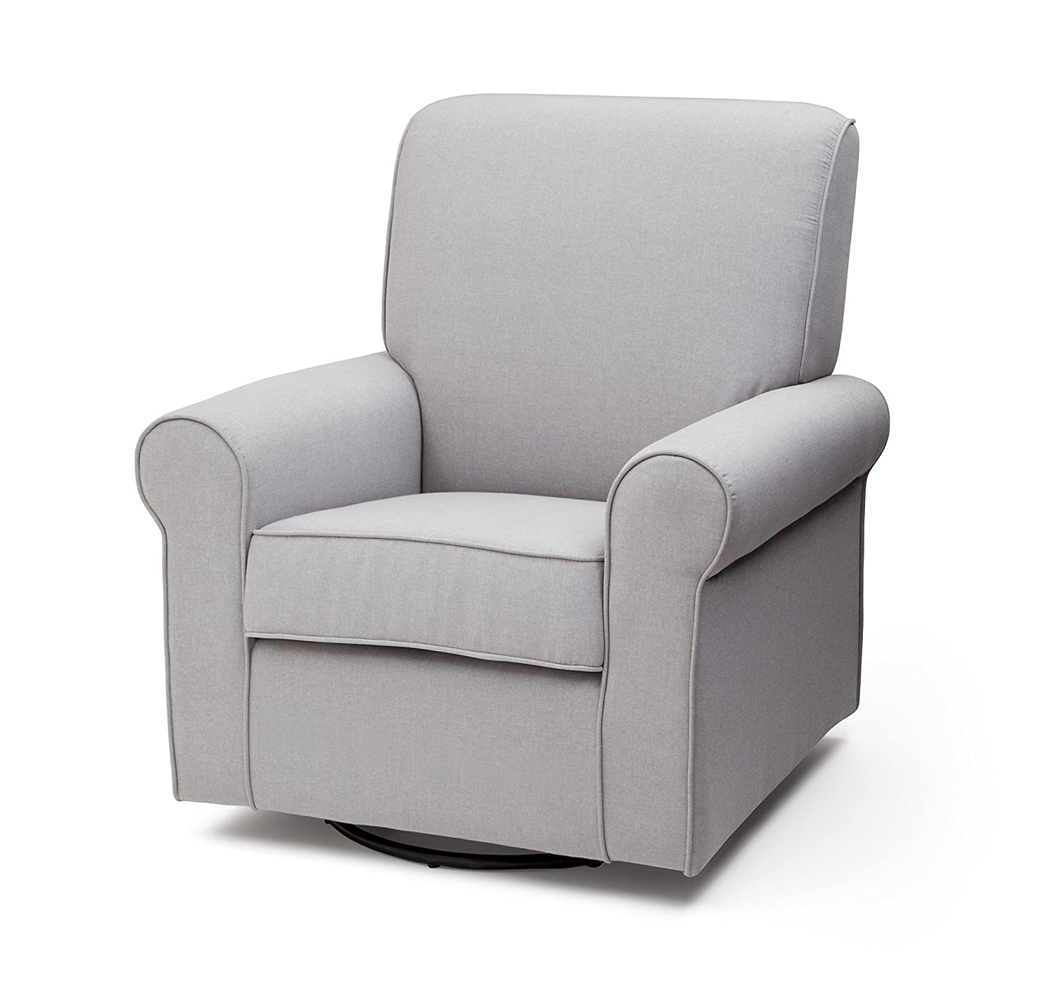 Charmant Amazon.com: Delta Children Avery Upholstered Glider Swivel Rocker Chair,  Heather Grey: Baby