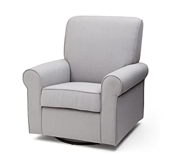delta furniture avery upholstered glider swivel rocker chair heather grey - Swivel Rocker Chair