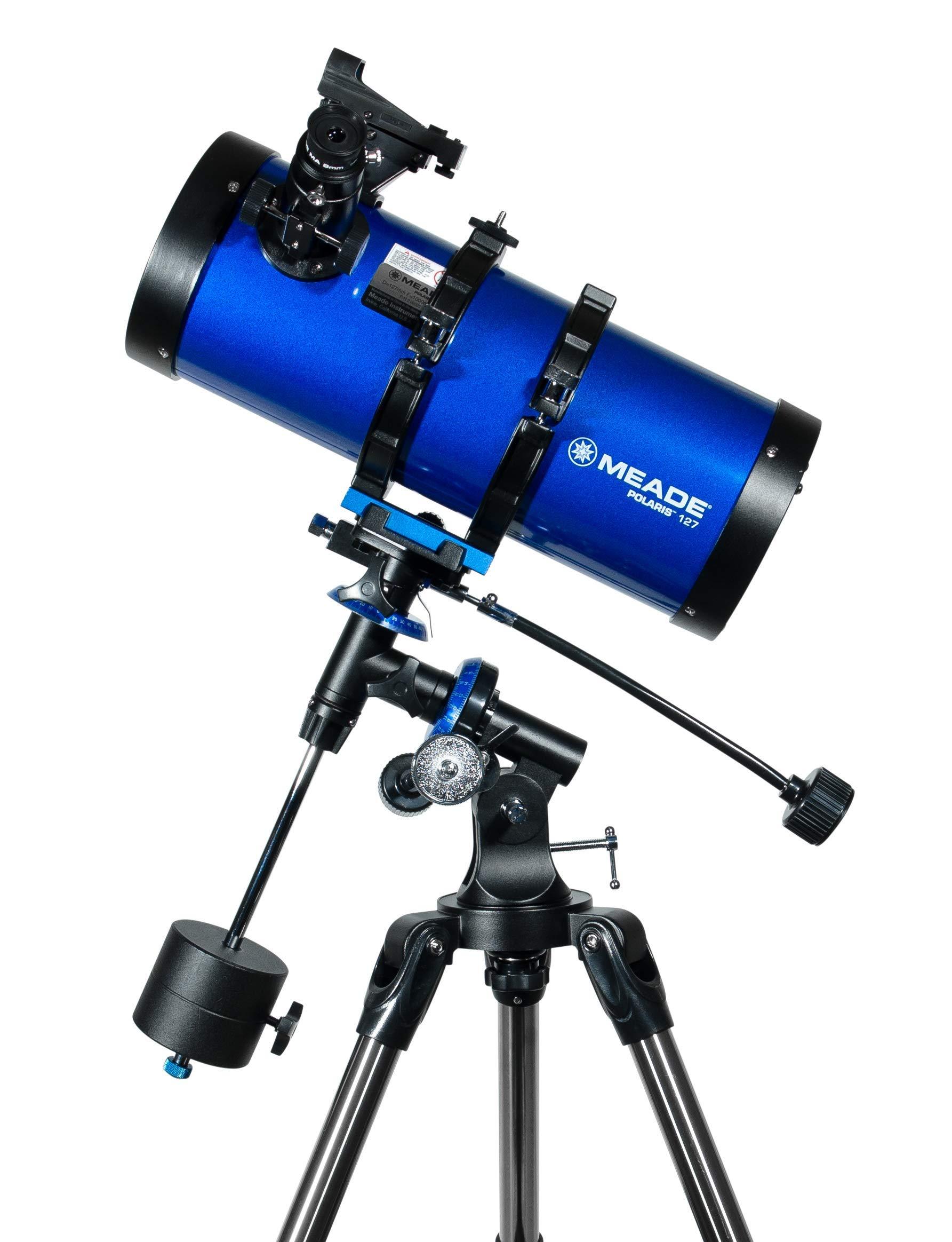 Meade Instruments 216005 Polaris 127 EQ Reflector Telescope (Blue) by Meade Instruments