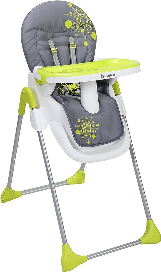 Badabulle Chaise Haute Easy Gris Vert
