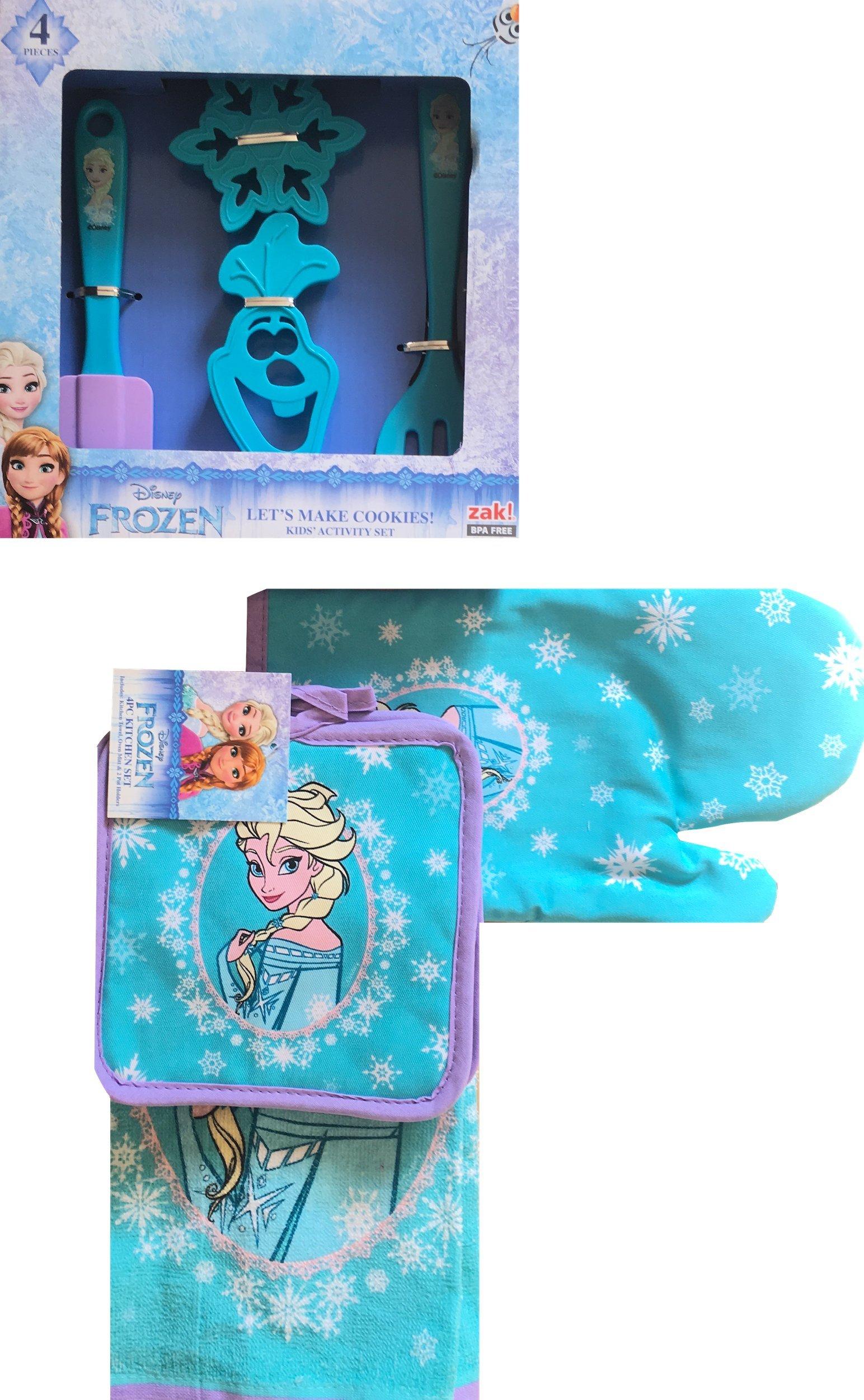 Official Disney Frozen ''Lets Make Cookies'' Kids Activity Set (4 Pc Kitchen Set) by Disney Frozen (Image #1)
