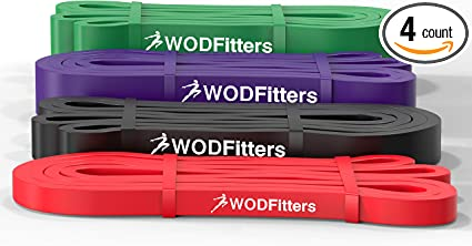Set of 41 inch Straps Mobility Work /& Serious Fitness WOD Nation Pull up Assistance Band Set Best for Pullup Assist 1 Black 1 Red 1 Purple Chin Ups Stretch Resistance Band Exercise