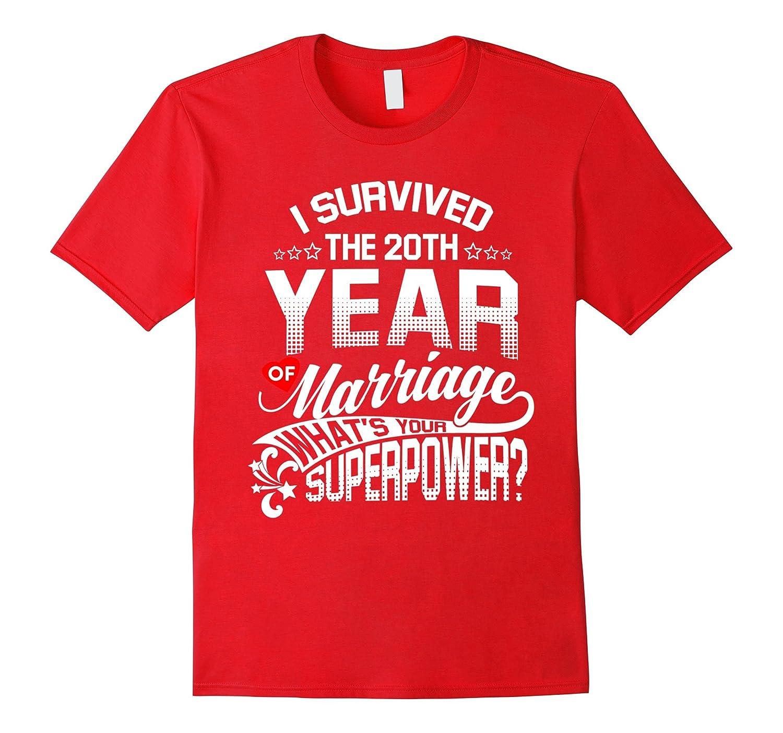 Anniversary Gift 20th 20 years Wedding Marriage Shirt-CD