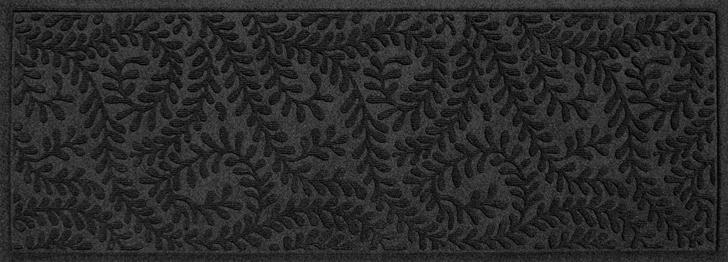 """Bungalow Flooring Waterhog Indoor/Outdoor Runner Rug, 22"""" x 60"""", Skid Resistant, Easy to Clean, Catches Water and Debris, Boxwood Collection, Charcoal"""