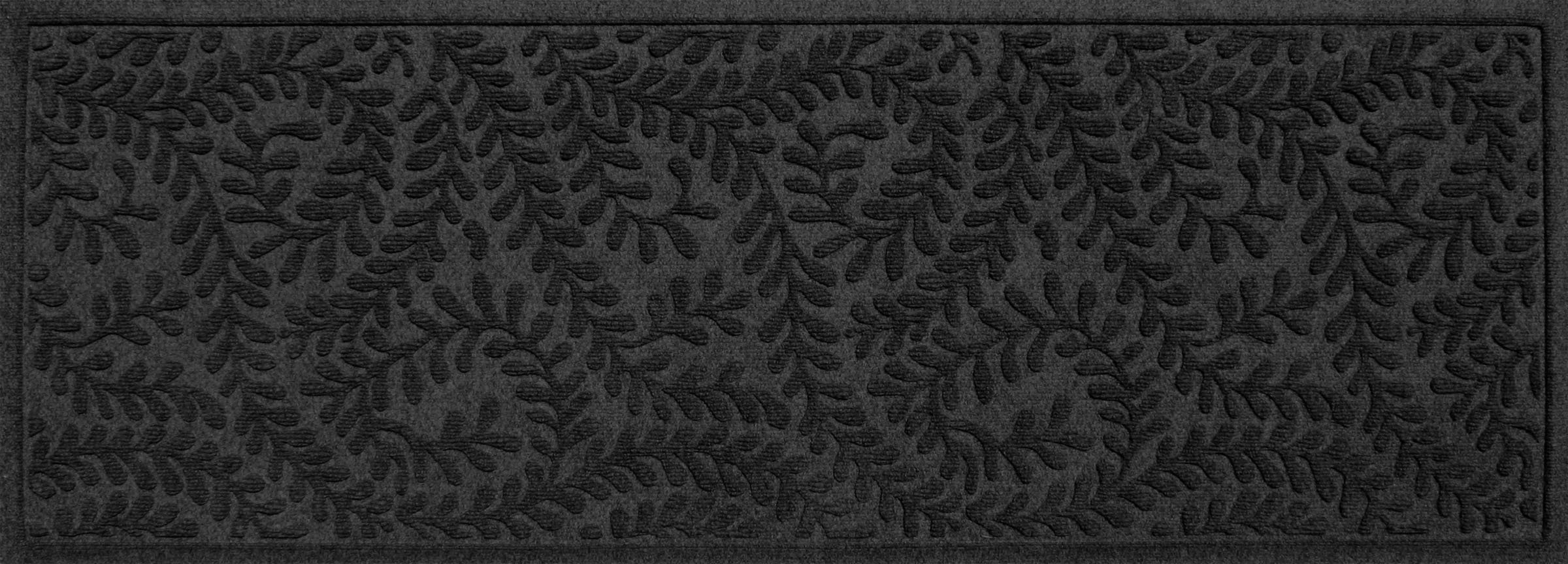 Bungalow Flooring Waterhog Indoor/Outdoor Runner Rug, 22'' x 60'', Skid Resistant, Easy to Clean, Catches Water and Debris, Boxwood Collection, Charcoal