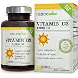 NatureWise Vitamin D3 1,000 IU for Healthy Muscle Function, Bone Health and Immune Support, Gluten Free & Non-GMO in Cold-Pressed Organic Olive Oil,1-year supply, 360 count