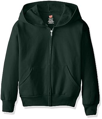 831c0576f93e Amazon.com  Hanes Big Boys  Eco Smart Fleece Zip Hood  Clothing