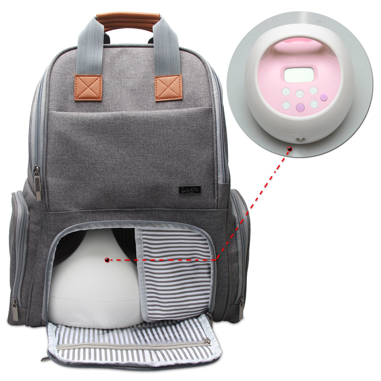 Passend f/ür die Meisten Brustpumpen Grau Brustpumpenrucksack f/ür Berufst/ätige M/ütter Luxja Milchpumpe Tasche mit Taschen f/ür Laptop und K/ühltasche