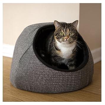 Rosewood 40 guiños Tweed gato cama, Gris: Amazon.es: Productos para mascotas
