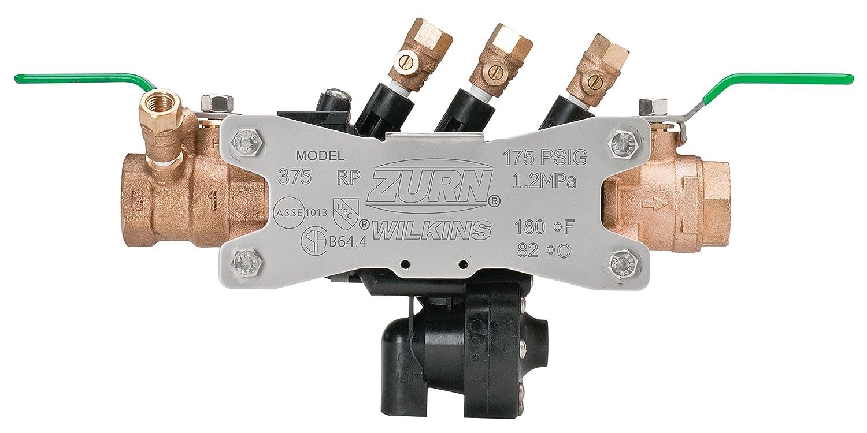 Zurn Wilkins 1 – 375 x L 1-inch鉛フリーReduced逆流圧力Preventer B005TU5PRO