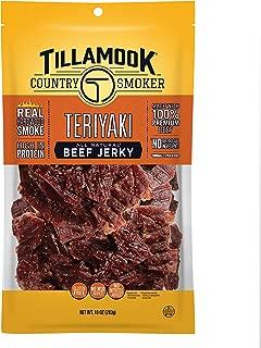 product image for Tillamook All Natural, Real Hardwood Smoked Teriyaki Beef Jerky, 10 Oz