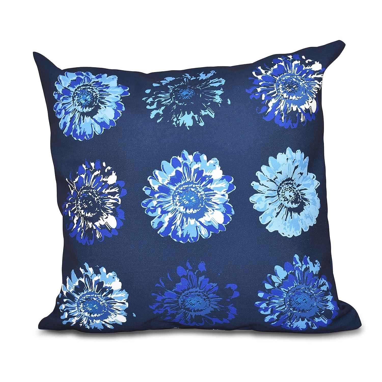 20x20 Blue Gypsy 2 E by design PFN557BL14-20 20 x 20-inch Floral Print Pillow