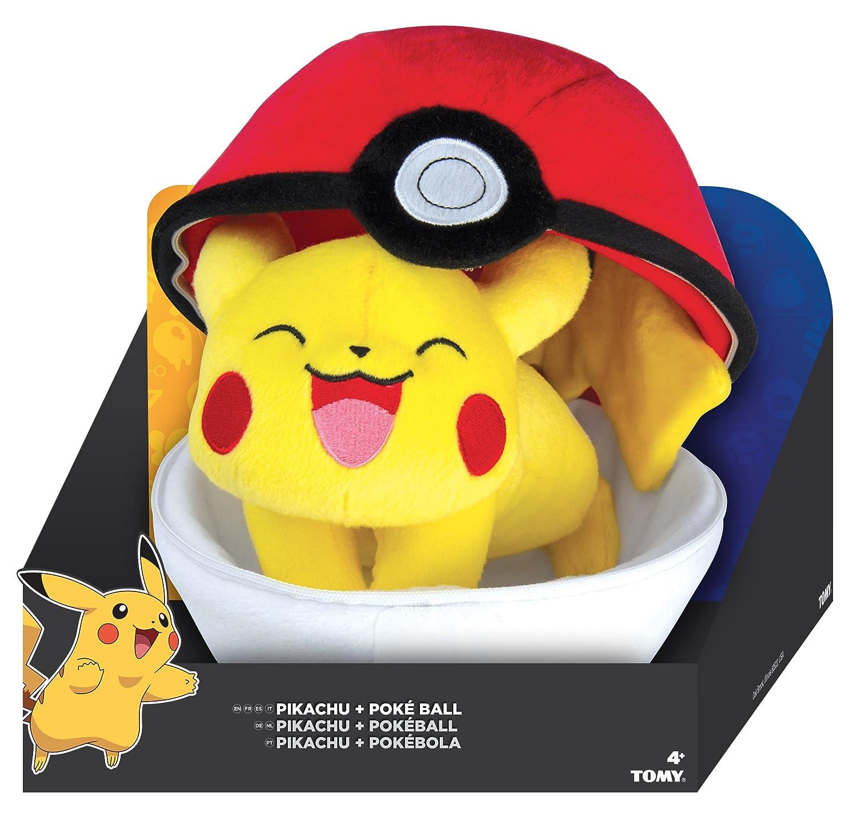 Amazon Com Tomy Pokemon Zipper Poke Ball Plush Poke Ball And