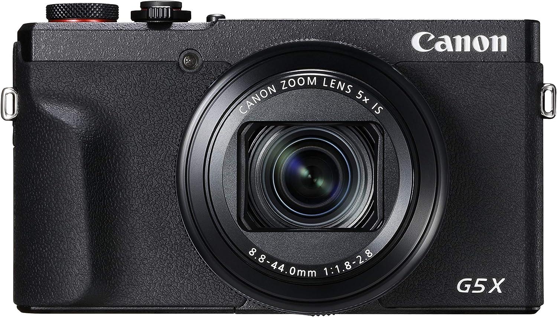 Canon PowerShot G5 X Mark II - Cámara Digital (20.1 MP, Pantalla táctil LCD Plegable de 7.5 cm, Pantalla abatible, WLAN, Zoom de 5X, 4K, CMOS) Negro