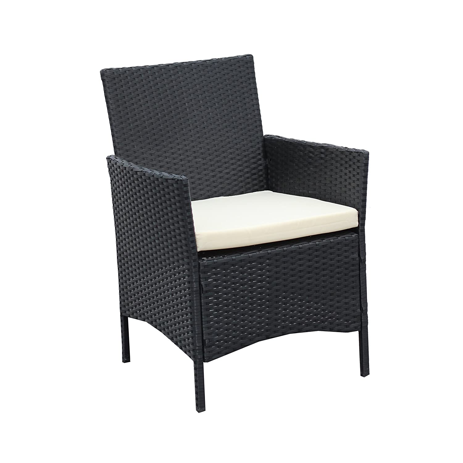 Rattan Outdoor Chairs Part - 28: Amazon.com : Patio Furniture Set Clearance Rattan Wicker Dining Table Chair  Indoor Outdoor Furniture Set Balcony Sofa Bench (Black) : Patio, Lawn U0026  Garden