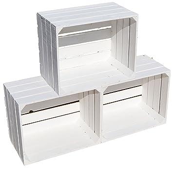lote de 3 cajas de madera tipo fruta blanco vintage - Cajas De Madera De Fruta