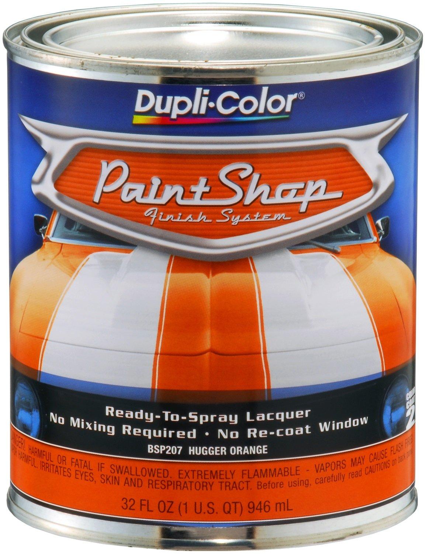 Amazon.com: Dupli-Color BSP207 Hugger Orange Paint Shop Finish ...