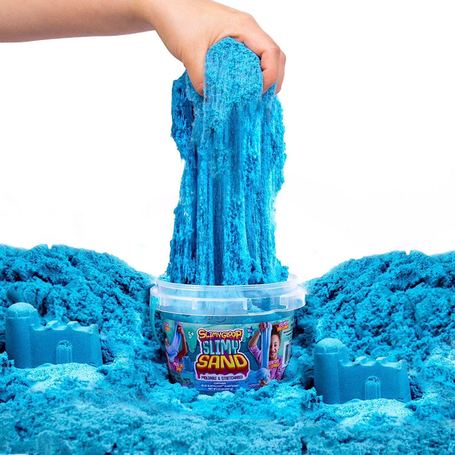 SLIMYSAND by Horizon Group USA Non Stick 3 Lbs of Stretchable Moldable A Kinetic Sensory Activity Purple Expandable Slimy Play Sand in A Resealable Bag
