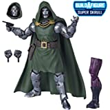 Marvel E8119 Legends Series Fantastic Four 6-inch Collectible Action Figure Doctor Doom Toy, Premium Design, 4 Accessories, 1 Build-A-Figure Part