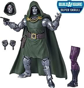 Marvel E8119 Legends Series Fantastic Four 6-inch Collectible Action Figure Doctor Doom Toy, Premium Design, 4 Accessories, 1 Build-A-Figure Part