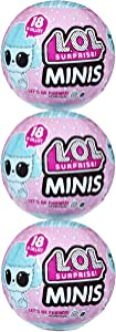 LOL Surprise Minis 3 Pack Bundle with Surprises Including 3 Fuzzy Tiny Animals and Furniture – Collect Series to Build a Mini LOL House