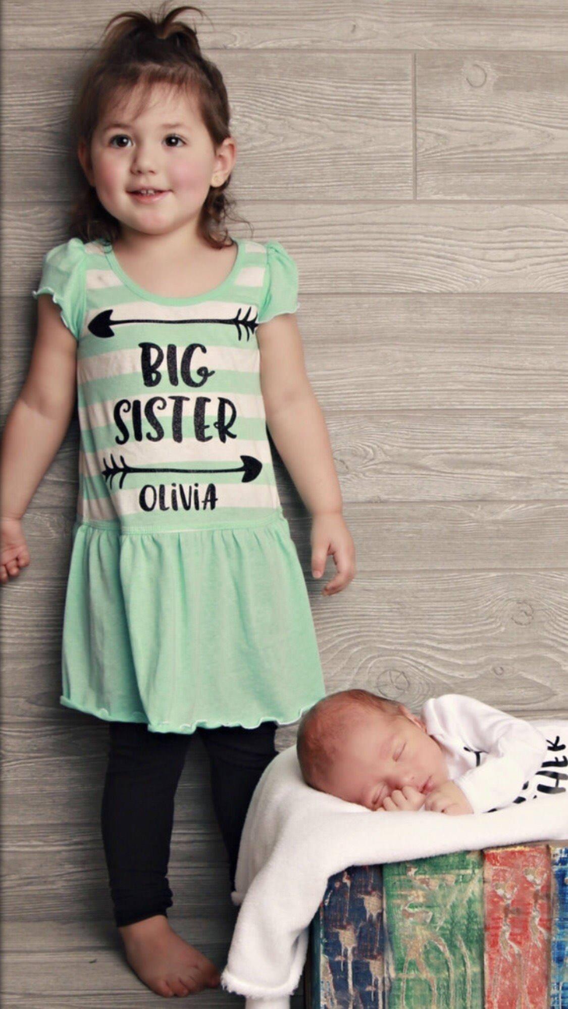 Big Sister Dress Big Sister Racerback Dress, Big Sister Toddler Dress, Big Sister Summer Dress, Big Sister Announcement dress