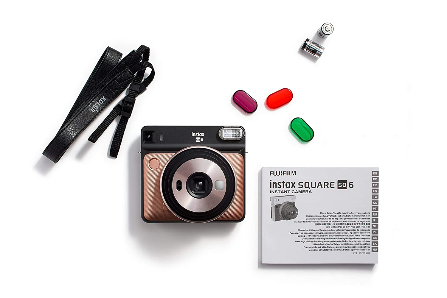 Fujifilm Instax Square SQ6 - Instant Film Camera - Blush Gold (Renewed)