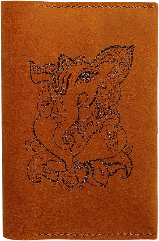 Hinduism Abstracts Handmade Genuine Leather Passport Holder Case HLT/_01
