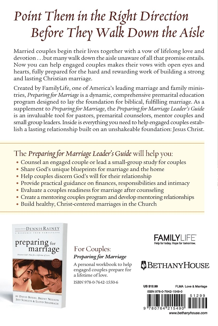 Preparing for Marriage Leaders Guide Dennis Rainey – Premarital Counseling Worksheets