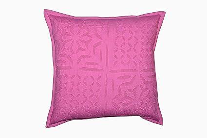 Amazon.com: artisan studio indian cotton applique throw pillow cover