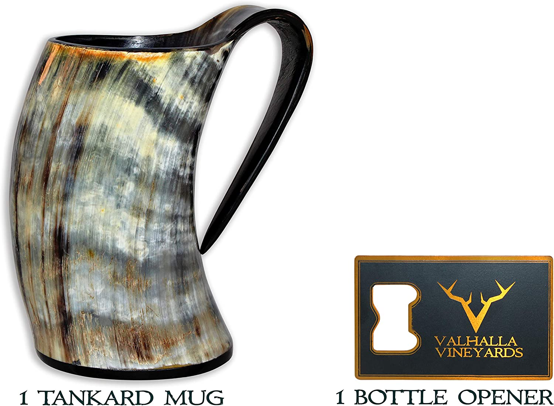 Ale Game of Thrones Horn avec support 14 Large Corne sculpt/ée Mead Bhartiya Handicrafts Tasse en corne de boisson Viking pour bi/ère en c/éramique inspir/ée du m/édi/éval