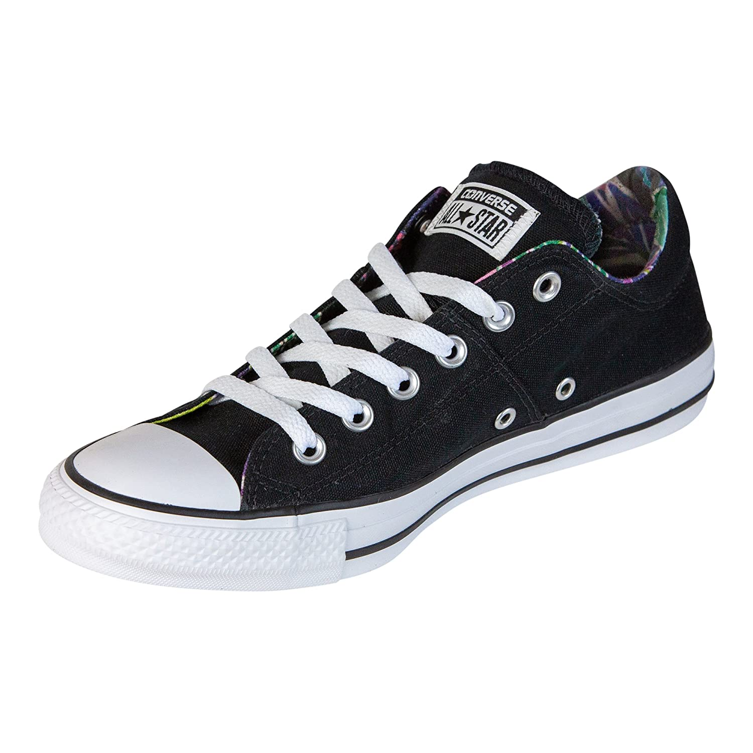 Converse Womens Chuck Taylor All Star Madison Sneaker B07FMZM52F 8 B(M) US|Black/White/White
