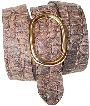 Fronhofer Ceinture croco de 4 cm à boucle ovale dorée, ceinture croco,  bouton-pression, ceinture échangeable  Amazon.fr  Vêtements et accessoires 2cdb5bc3d4a