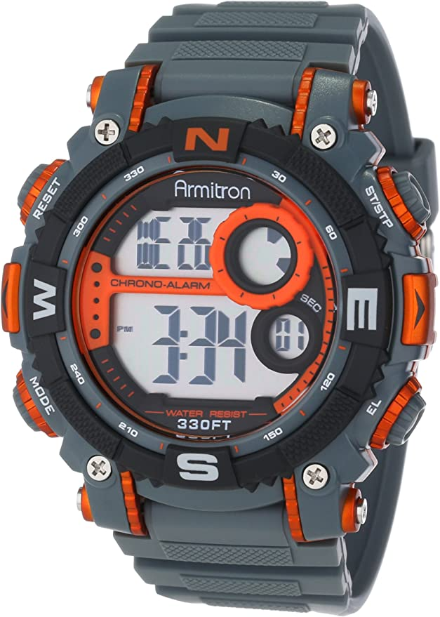 Armitron Sport Men's 40/8284ORG Sport Watch with Grey Band