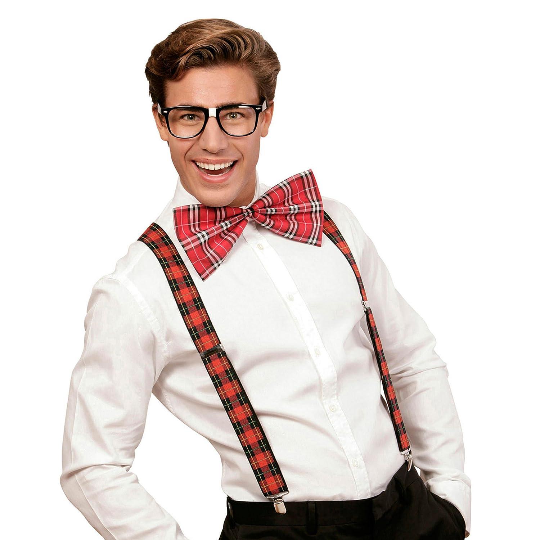 Tirantes Gafas y Pajarita WIDMANN 03617/?/Nerd Set