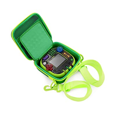 CASEMATIX Green Toy Box Case Compatible with Leapfrog Rockit Twist Handheld Learning Game System , Includes Shoulder Strap: Toys & Games
