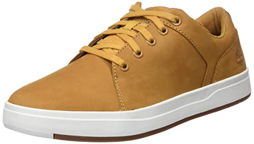 Timberland Courtside Leather, Zapatos de Cordones Oxford para Hombre, Amarillo (Wheat Nubuck 231), 45 EU