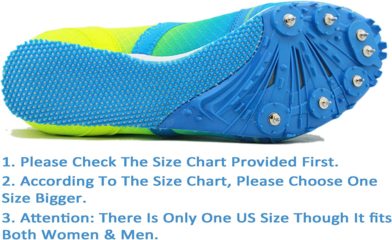 Mens Boys Girls,Womens HEALTH Track Spike Running Sprint Shoes Track and Field Shoes Mesh Breathable Lightweight Professional Athletic Shoes 5599 Blue /& Red for Kids