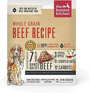 The Honest Kitchen Human Grade Dehydrated Organic Grain Beef Dog Food 7 lb - Verve