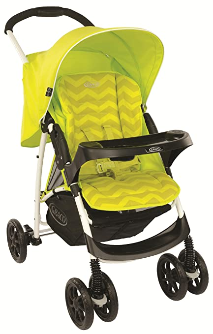 Mirage Plus Stroller, Lime Zig Zag