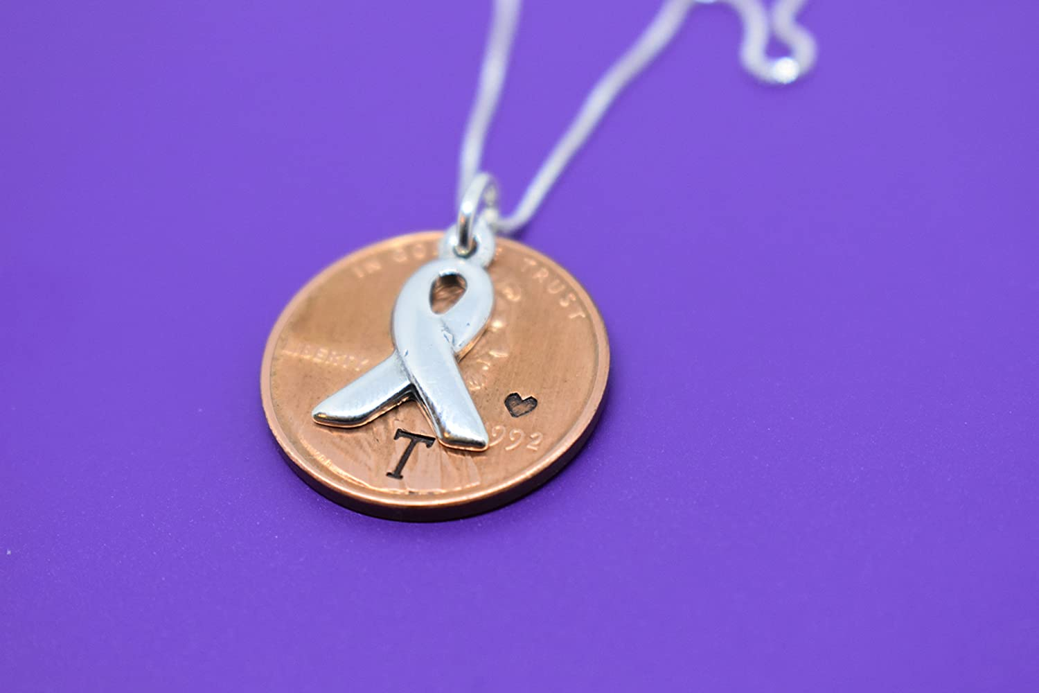 Amazon com: Cancer Memorial Necklace, Jewelry - Penny from