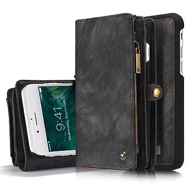 e4e889052e3 iPhone 8 Plus/ 7 Plus caso, savyou desmontable magnética cartera funda de  piel con