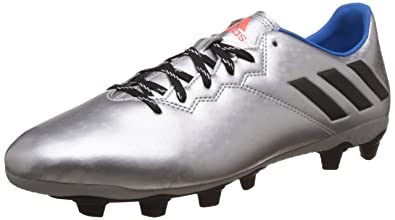 e6b9c39ee Adidas Men s Messi 16.4 FxG Silver Metallic