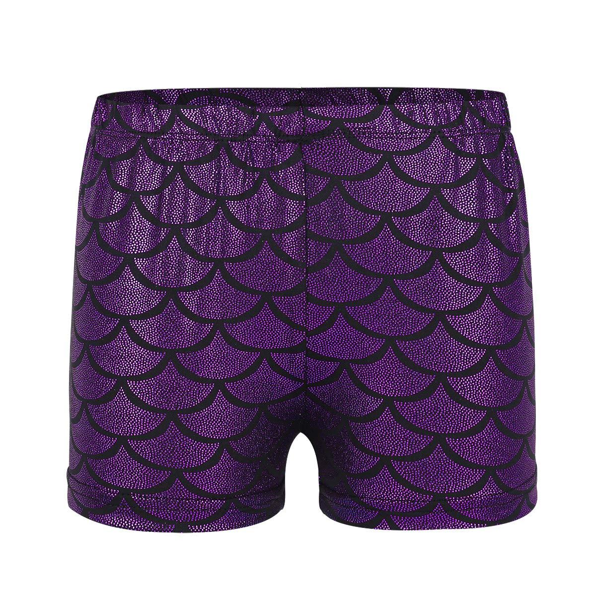Freebily Girls Boy-Cut Shorts Low Rise Solid Booty Bottoms Dance Underwear Purple 10
