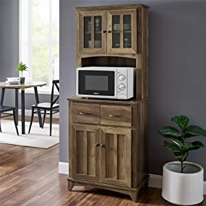 Home Source Brook Microwave Stand (Reclaimed Barn Wood)