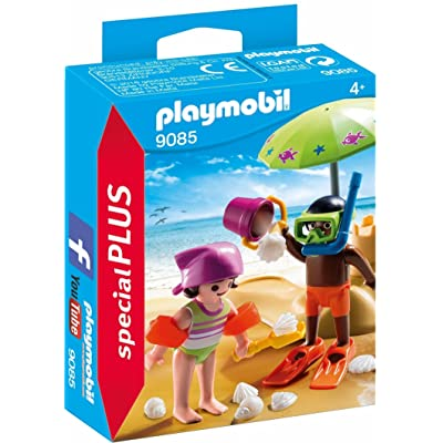PLAYMOBIL Children at The Beach Building Set: Toys & Games