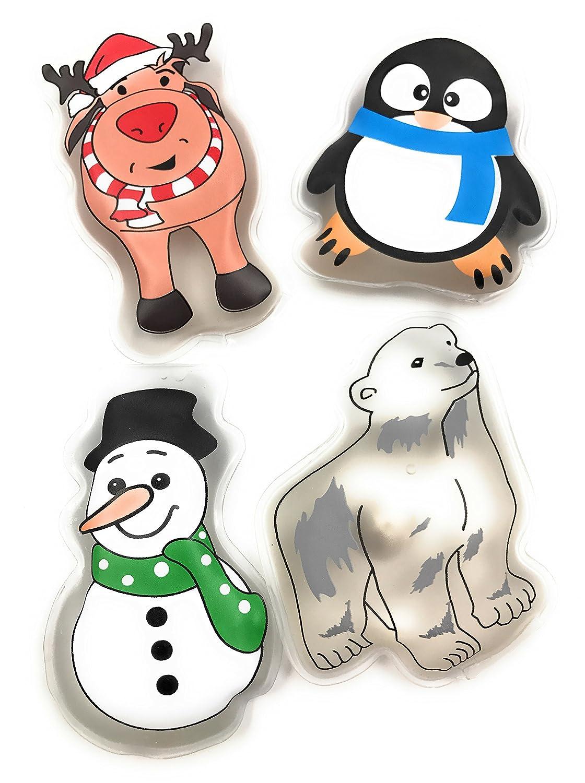 ocona© Set de 4 calentadores de bolsillo, recalentamiento, calentadores de mano, almohadilla de calefacción Firebag contra manos frías en invierno, ...