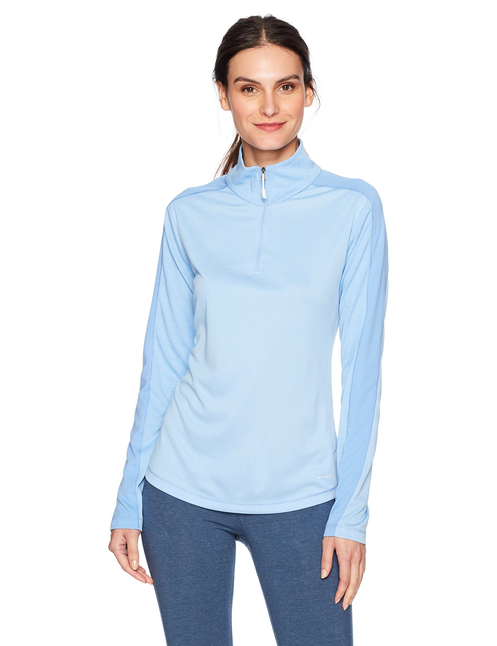White Sierra Sleek Rock Quarter Zip Base Layer, Sky Blue, Large