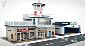 O Gauge 7mm 1:48 Scale Model Railroad Building Airport Kit The CityBuilder