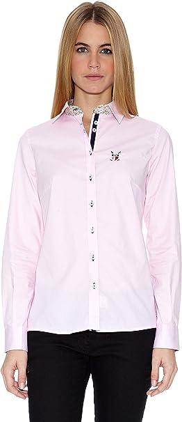 POLO CLUB Camisa Mujer 307 Rosa ES 48: Amazon.es: Ropa y ...